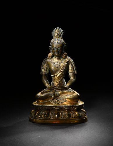 Gilt-Bronze Buddha, 18th Century