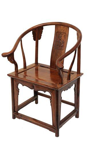 Chinese Huanghuali Horseshoe-Back Chair