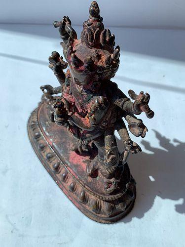 Bronze Statue of Yamantaka, 17th Century