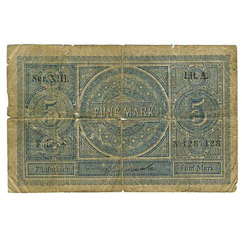 1874 5 MARK IMPERIAL TREASURE NOTE