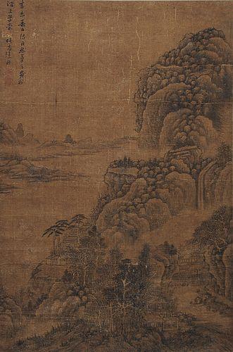 Scroll Painting of Landscape, Xu Fang (1622-1694)