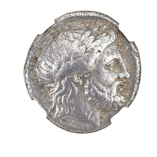 ANCIENT MACEDON TETRADRACHM COIN