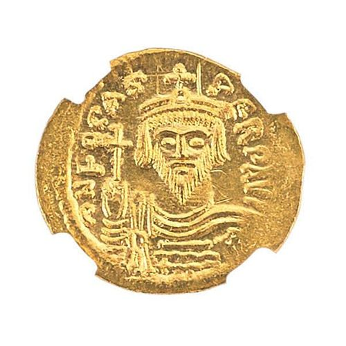 ANCIENT BYZANTINE GOLD AV SOLIDUS COIN