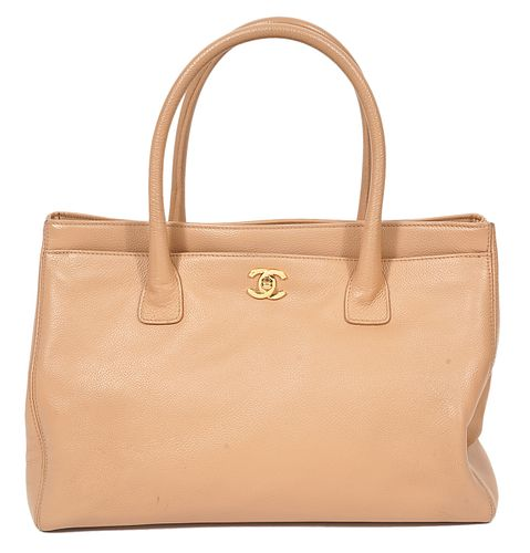 Chanel Beige Leather Tote 2004
