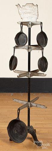 Wagner Hollow Ware display rack