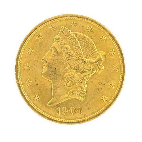U.S. 1904 $20.00 GOLD COIN