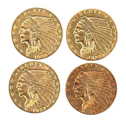 U.S. 2 1/2 D GOLD COINS