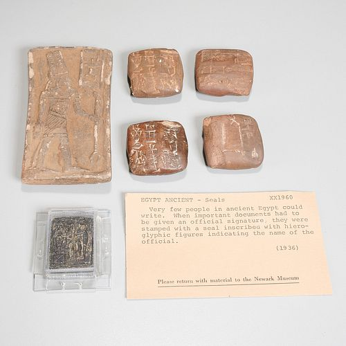 (6) Ancient seals and tablets, ex-museum