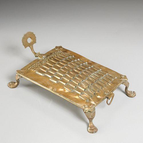 17th c. Indo-Dutch brass food grater