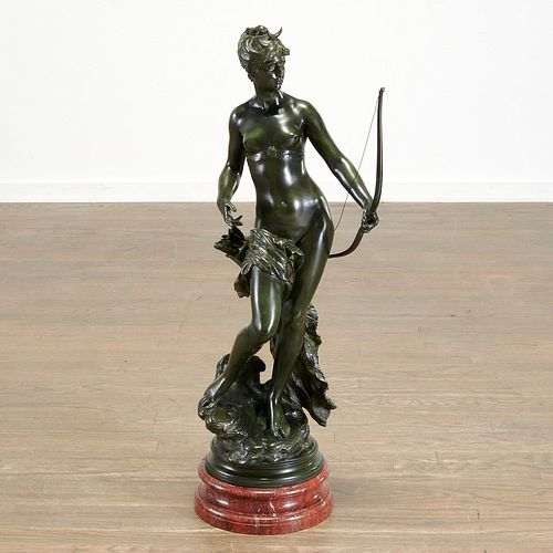 Mathurin Moreau, large bronze statue