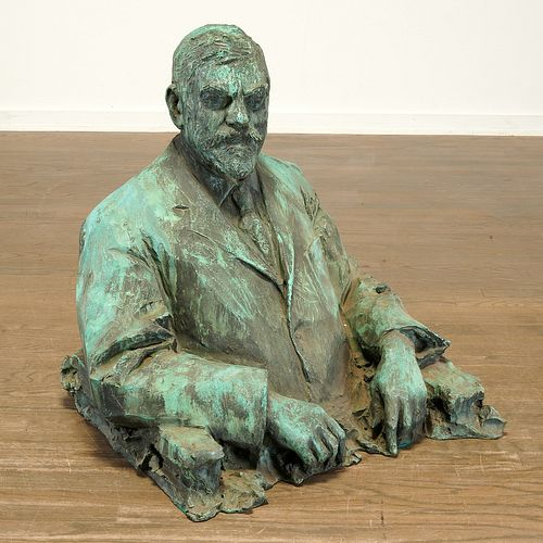 Paul Troubetzkoy, lifesize portrait bronze, 1911