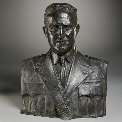 Prince Paul Troubetzkoy, bronze portrait bust,1931