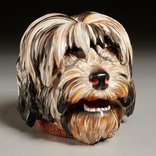Paris porcelain dog-form humidor
