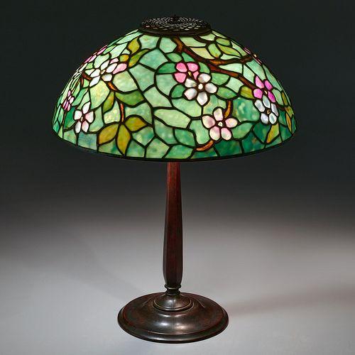 Tiffany Studios, 'Apple Blossom' table lamp