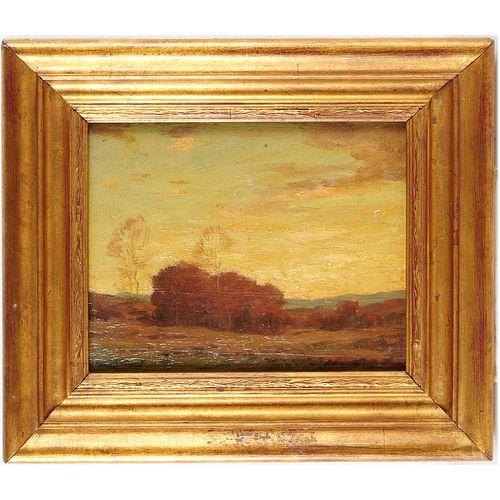 George M. Bruestle, oil on panel