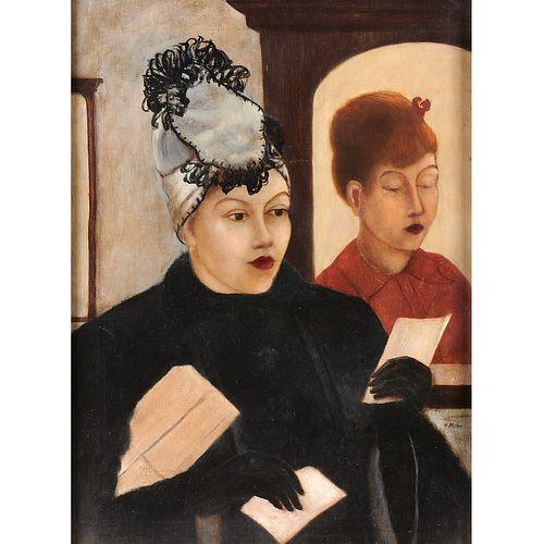 Kenneth Hayes Miller (attrib.), oil on canvas