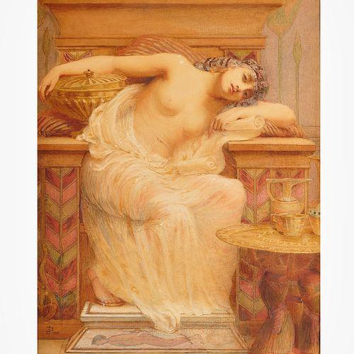 Edward Poynter (attrib.), watercolor painting
