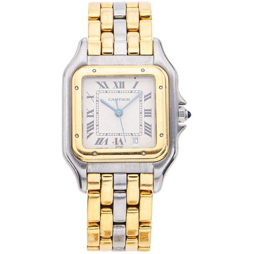 CARTIER PANTHÈRE. STEEL AND 18K YELLOW GOLD