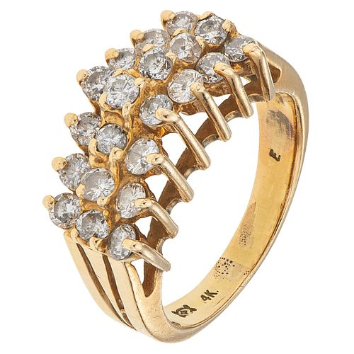 DIAMONDS RING. 14K YELLOW GOLD