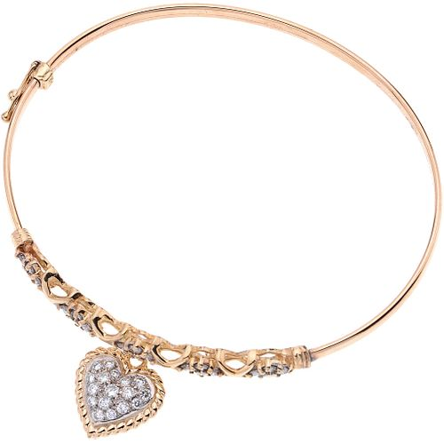 DIAMONDS BRACELET. 14K YELLOW GOLD