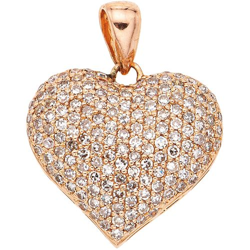 DIAMOND PENDANT. 14K PINK GOLD