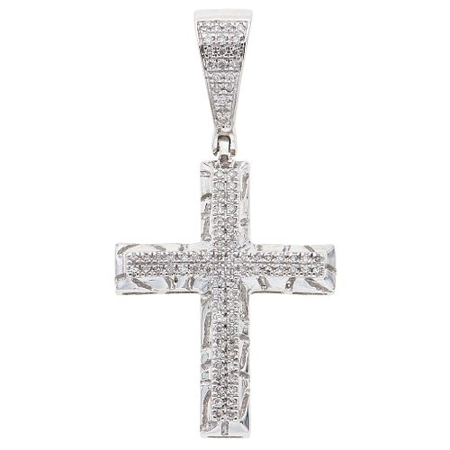 DIAMONDS CROSS. 10K WHITE GOLD
