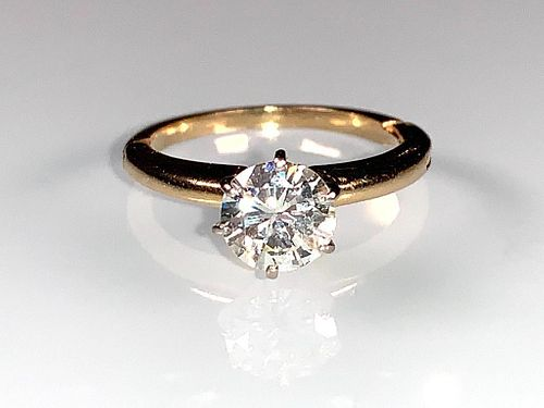 Tiffany 14k White Gold and Diamond Ring