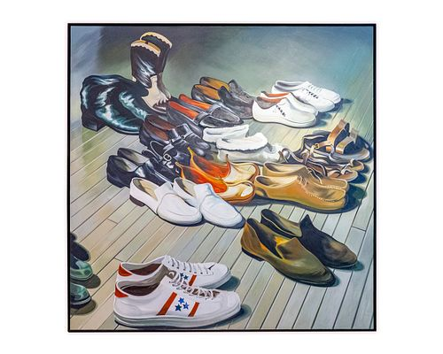 Lowell Nesbitt (American, 1933-1993) Collection of Shoes II, 1973
