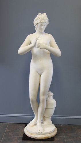 19th Century Life Size Marble Sculpture Of A Nude