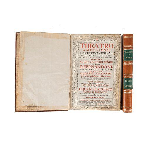 Villaseñor y Sánchez, Joseph Antonio de. Theatro Americano. México, 1746. Tomes I - II. Pieces: 2.