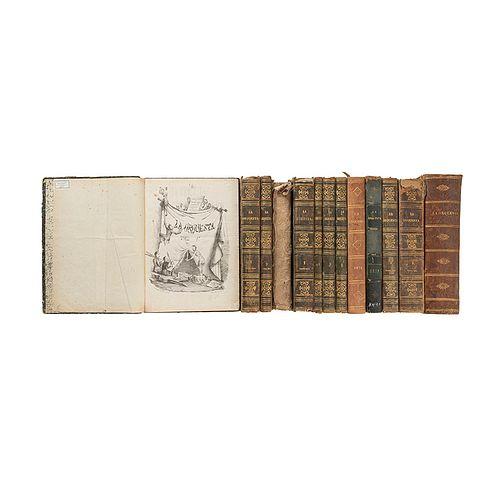 Escalante-Iriarte-Macario-Riva Palacio-Carríon. La Orquesta. Periódico Omisio, de Buen Humor y con Caricaturas... Méx,1861-1875. Pieces:13