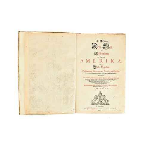 Montanus, Arnoldus. Die Unbekante neue Welt, oder Beschreibung des Welt-Teils Ameika... Amsterdam, 1673.