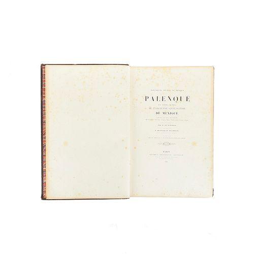 Waldeck, Jean-Frédéric Maximilien - Brasseur de Bourbourg, Étienne-Charles (Abbé). Monuments Anciens du Mexique: Palenqué... 1866.
