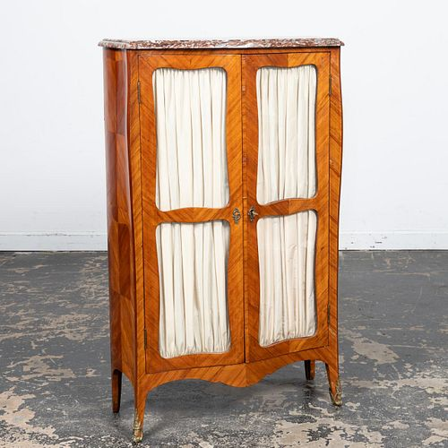 19TH/20TH C. FRENCH LOUIS XV MARBLE TOP CABINET