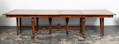 20TH C., BAROQUE REVIVAL DINING TABLE FOR TEN
