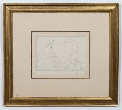 "PICASSO ETCHING ""DEUX SCULPTEURS"", VOLLARD"
