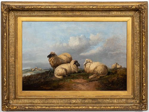 "THOMAS SIDNEY COOPER ""RESTING SHEEP"" OIL, 1879"