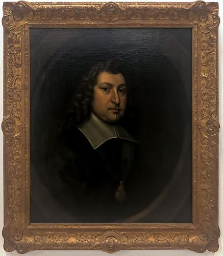 CORNELIUS JOHNSON, PORTRAIT OF EDWARD WALKER, 1649