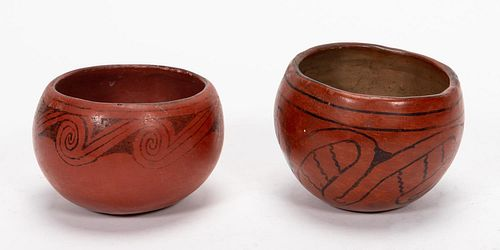 TWO MARICOPA NATIVE AMERICAN POTTERY BOWLS