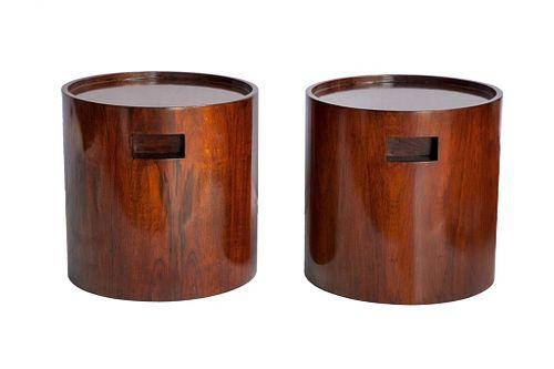 Jorge Zalszupin Brazilian Modern Side Tables, Pair