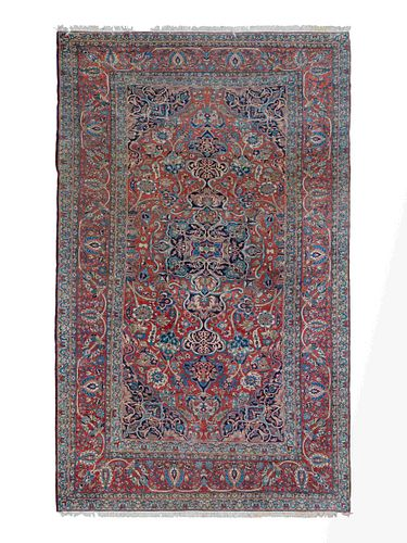 A Kashan Carpet 136 X 224 inches.