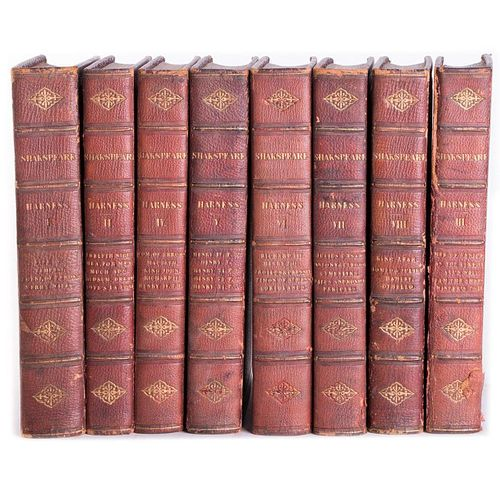 Shakespeare's Dramatic Works. Eight volume set.