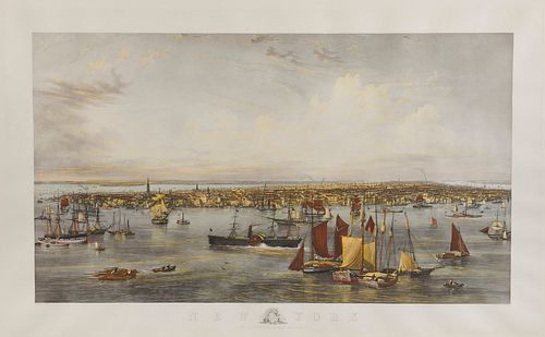 New York, engraved by C. Mottram after the watercolor by J.W. Hill