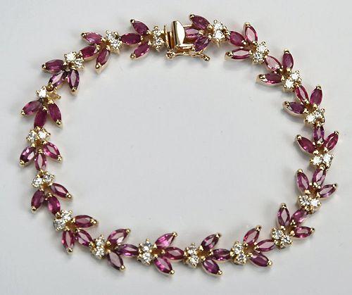 14kt. Ruby & Diamond Bracelet