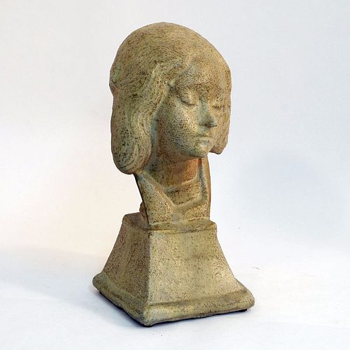 "Alexandre Bigot ""St Fortunade"" Stoneware Sculpture"
