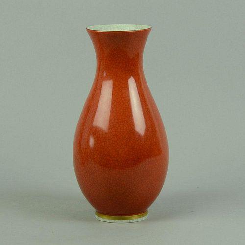 Thorkild Olsen for Royal Copenhagen Crackle Vase