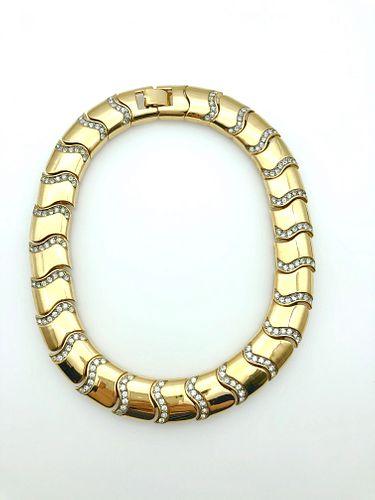 Givenchy Gold-Tone & Rhinestone Necklace, Vintage