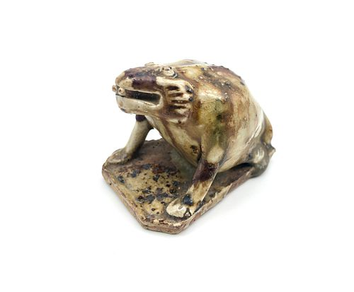 Tang Dynasty (618-907AD) Stoneware Frog Figurine