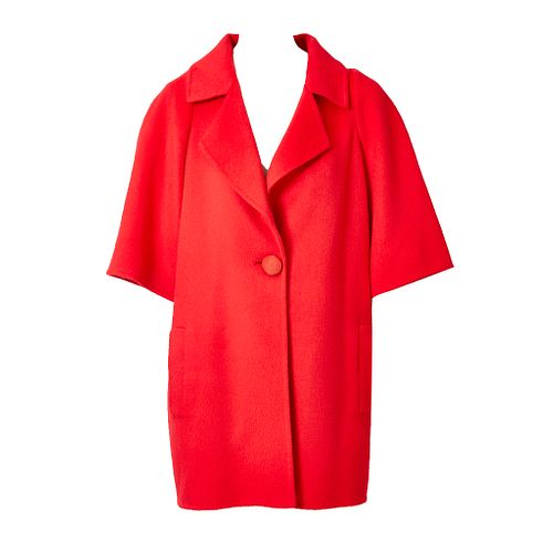 Bill Blass Double Face Cashmere Coat with Smocking