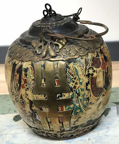 Antique Chinese Ceramic Opium Water Pipe